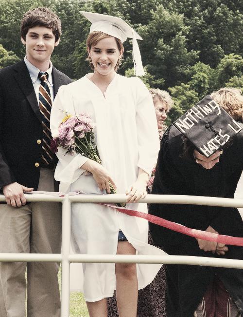 Logan Lerman, Emma Watson and Ezra Miller Perks of Being
