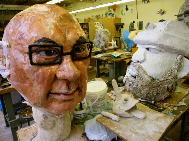 The big head project high school art art lessons and 3d for Cool paper mache