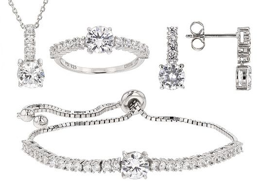 Bella Luce (R) 10.27ctw Rhodium Over Sterling Silver Jewelry Set (5.76