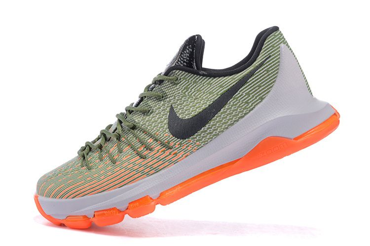 save off 3c8b9 24b5c 2016-2017 Sale Nike KD 8 Easy Euro Pure Platinum Hot Lava Army Green New  Arrival 2016