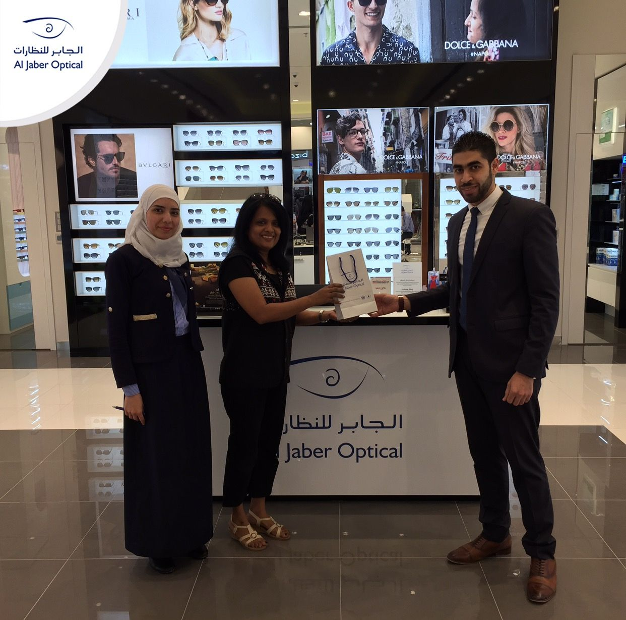 Congrats again Rachel!  We're glad you liked your Ray-Ban sunglasses! You can be the next winner! Participate and win!  #Aljaber_optical #winner #competition #chanllenge #prize #Rayban #sunglasses #UAE #Dubai #Sharjah #Abudhabi #Alain #RAK #health #Beauty #Fashion