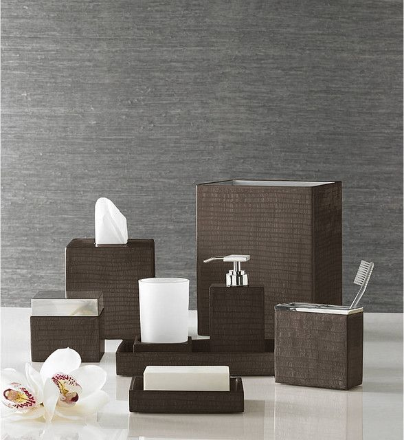 bathroom ornaments with synthetic wood