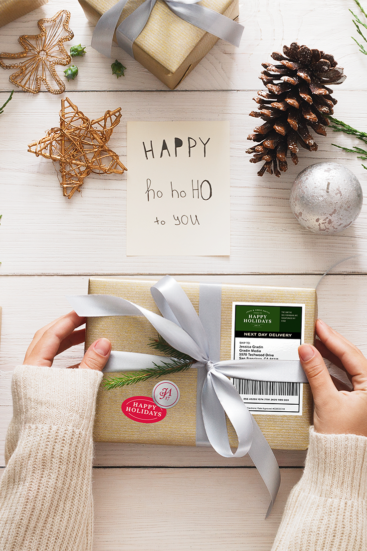 sending holiday cheer has never been easier just print label and