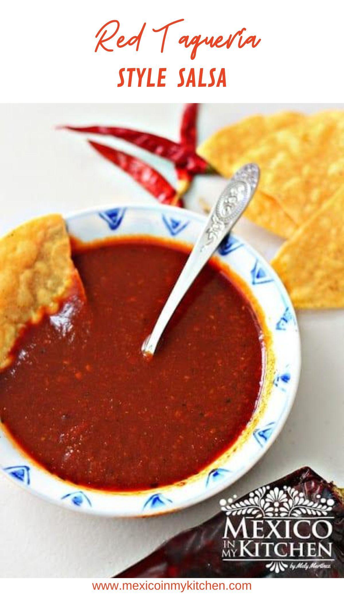 Red Taquería Style Salsa Receta De Salsa Taquera Mexican Recipes Recipe Mexican Food Recipes New Chicken Recipes Pork Carnitas Tacos