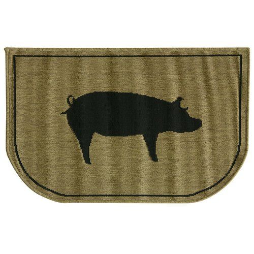 Found it at Wayfair - Relince Slice Pig Burlap Mat