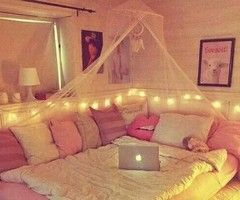 girl cave. bed couch.