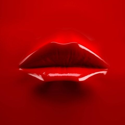 3D Self Adhesive Wallpaper **Red Lips**/ 3D Wall Mural / 3D Wall Stickers / Self-adhesive Fabric Wall Covering / Peel and Stick Wallpaper
