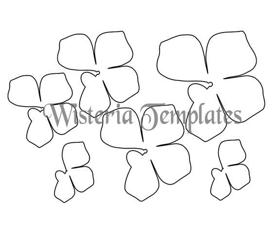 Hanging Wisteria Paper Flowers Wisteria Templates Diy Etsy Paper Flower Template Paper Flower Garlands Flower Template