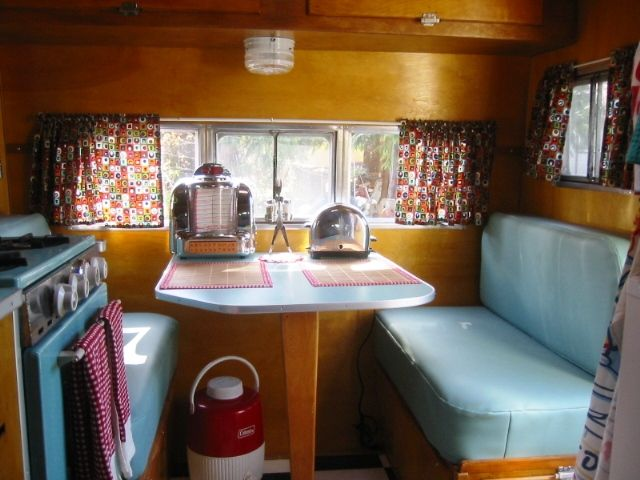 17 Best images about Trailer Interiors on Pinterest ...  |1950s Vintage Travel Trailers Inside