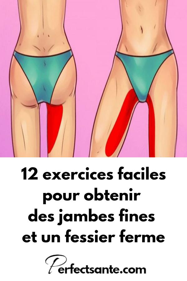 12 exercices faciles pour obtenir des jambes fines et un fessier ferme #fitnessandexercises #fitness...