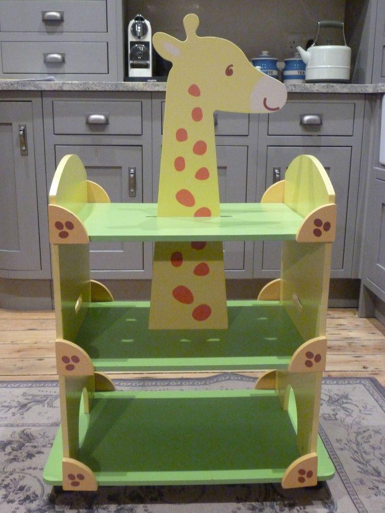 Katherine Roumanoff for Verbaudet childrens kids giraffe bookcase shelf unit