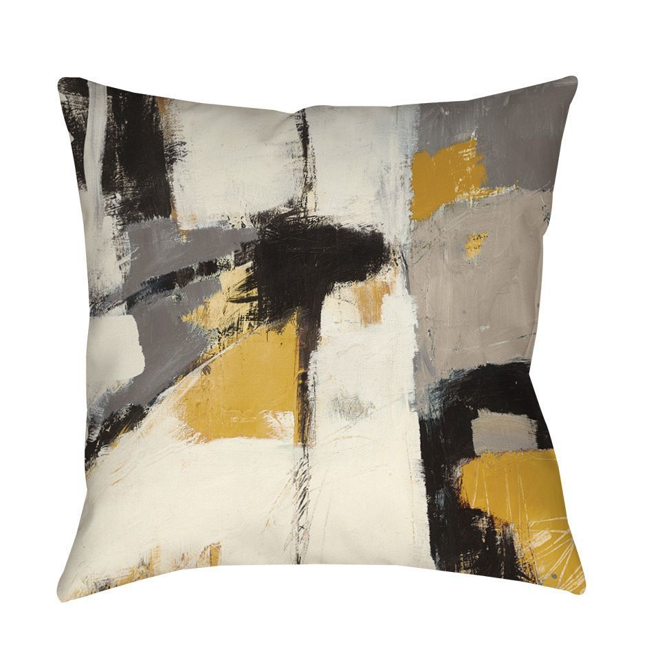 Add a modern artsy look to your home with this pillowus abstract