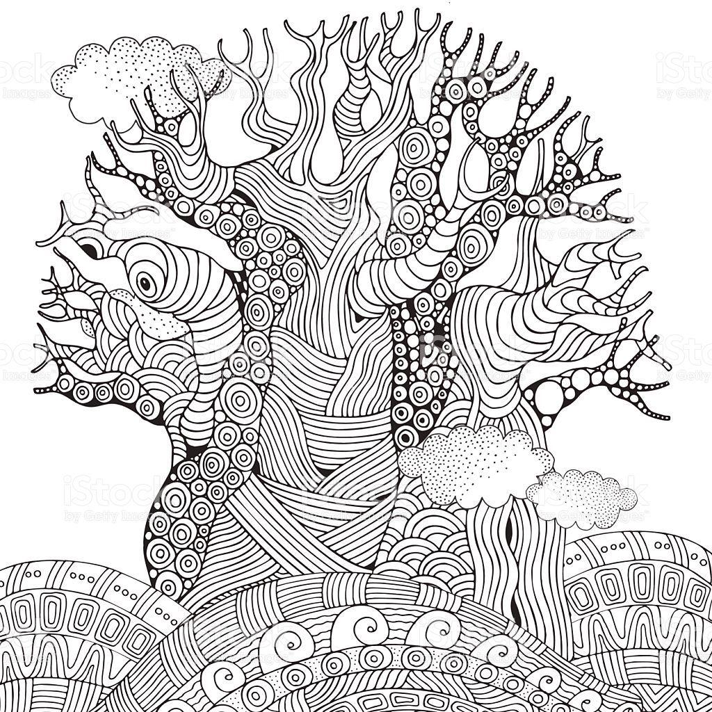 Image Result For Free Africa Coloring Pages Afrikanische Kunst Baume Zeichnen Wenn Du Mal Buch