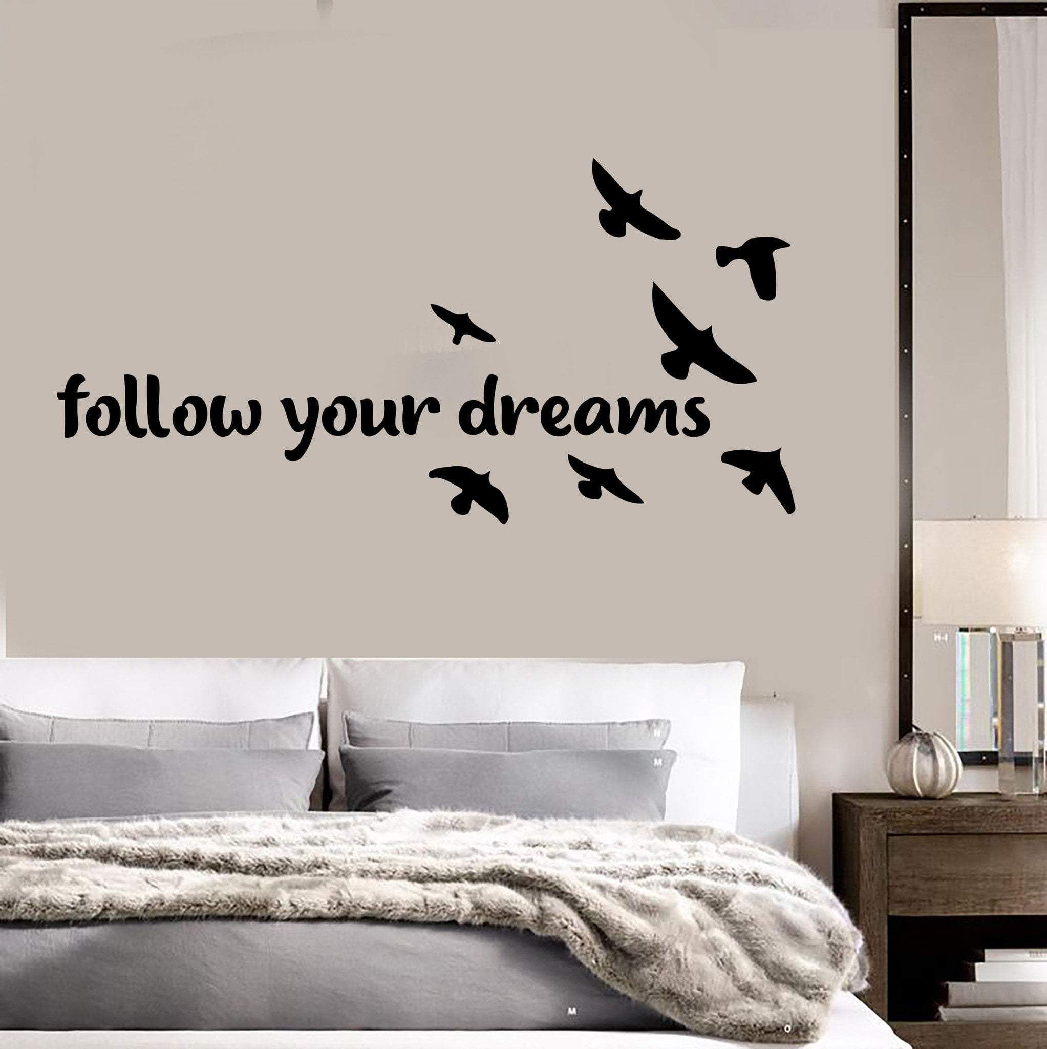 Vinyl Wall Decal Bedroom Quote Birds Dreams Home Art Stickers Unique Gift Ig3683 Wall Decals For Bedroom Vinyl Wall Decals Bedroom Wall Stickers Bedroom