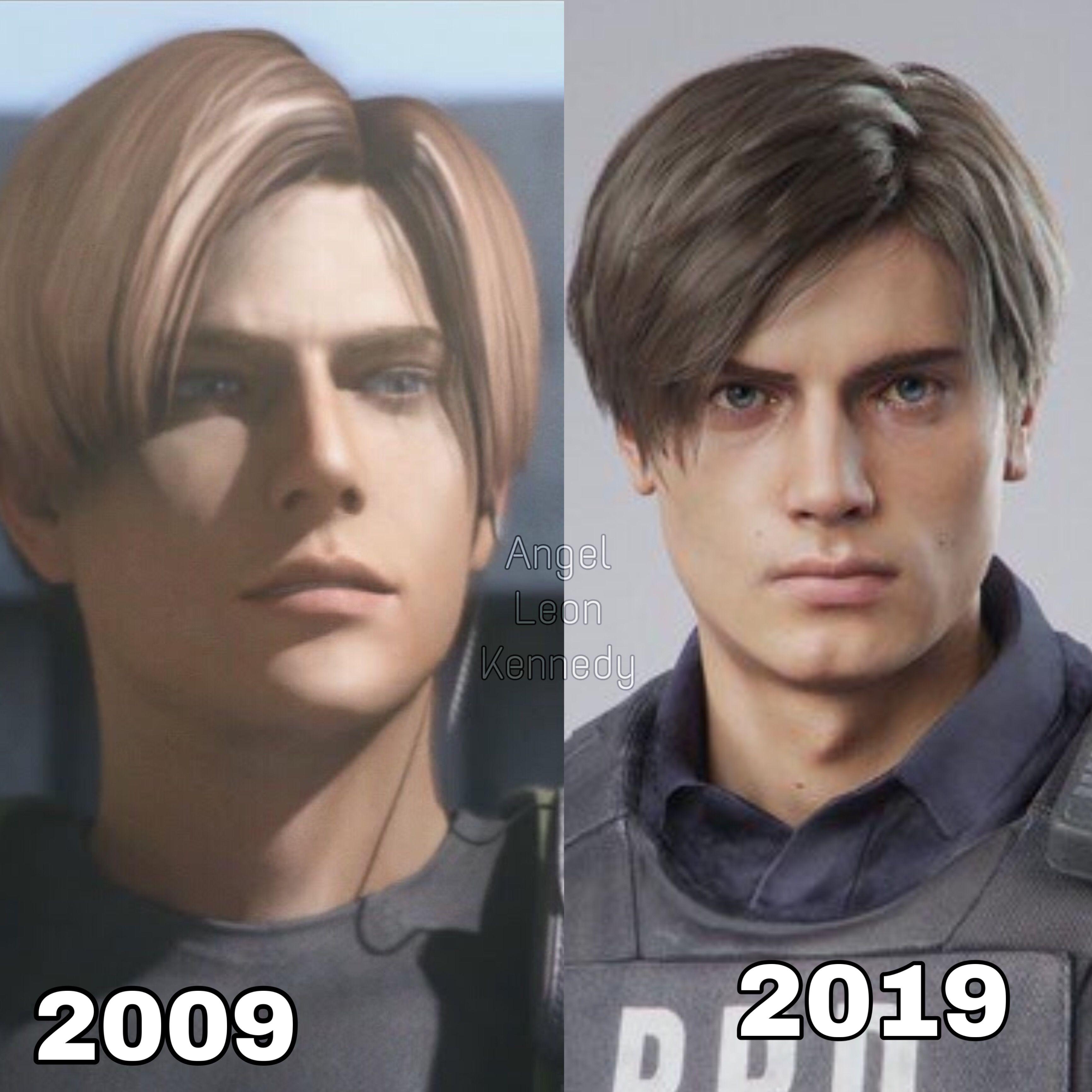 Leon Kennedy Then Now Resident Evil Leon Resident Evil Anime Resident Evil