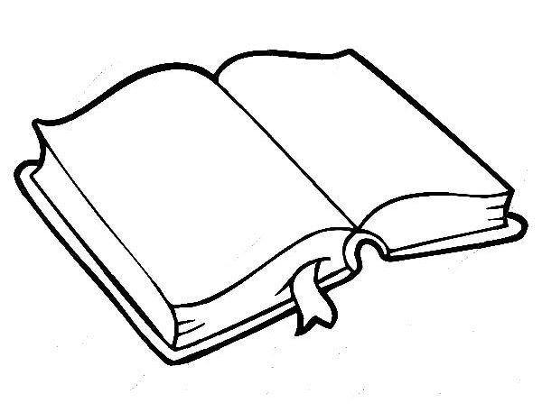 imagenes-de-libros-para-colorear-5.jpg (600×457) | Utiles escolares ...