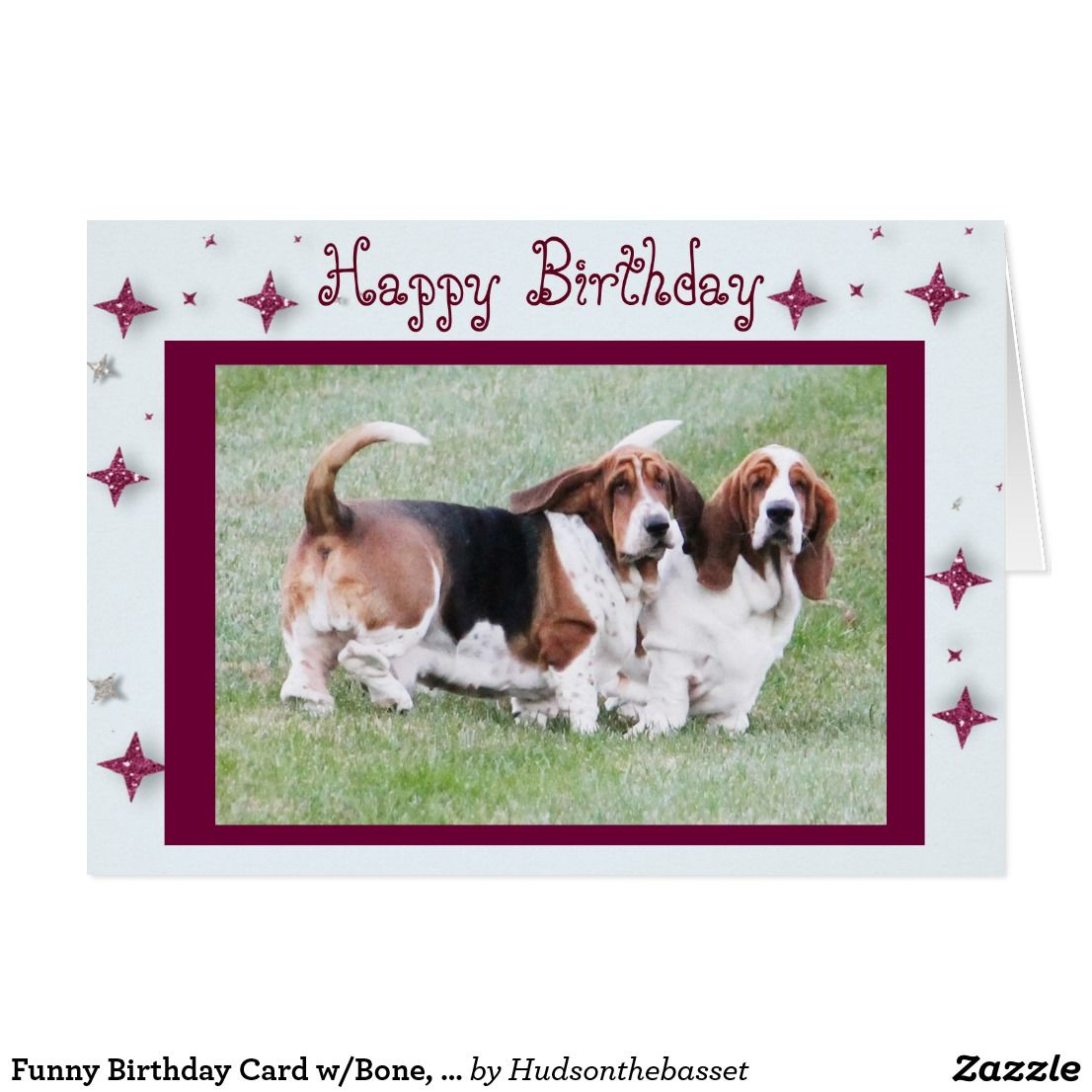 Funny birthday card wbone bassets stars funny birthday funny birthday card wbone bassets stars bookmarktalkfo Gallery