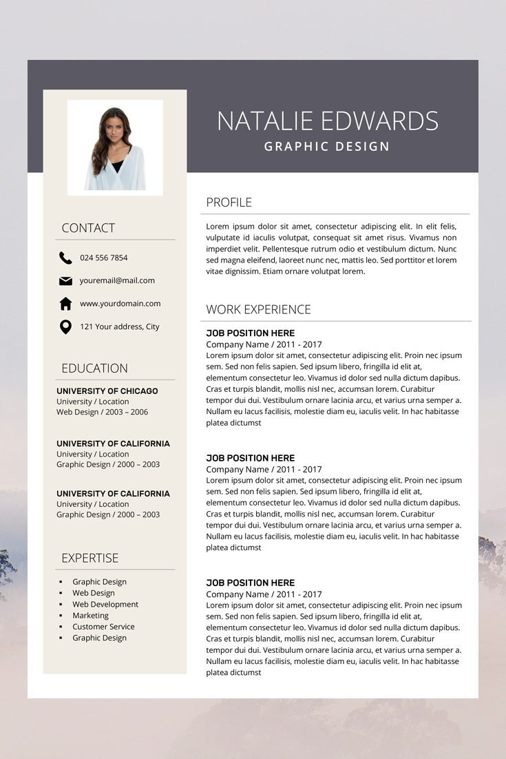 Creative Resume Template Cv Template For Ms Word And Pages Etsy Teacher Resume Template Resume Template Professional Resume Template