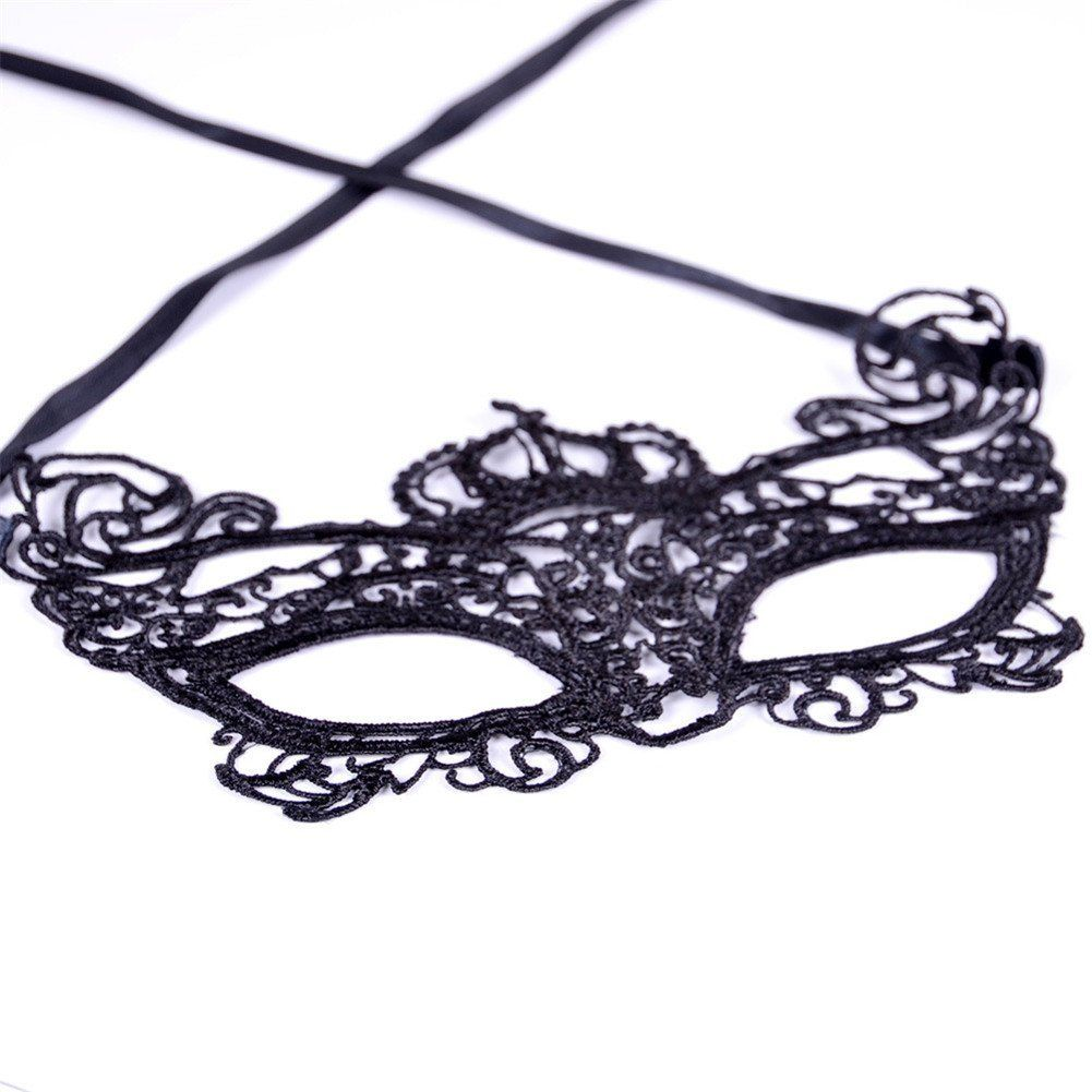 Amazon.com: Bestwoohome Hollow Lace Eye Mask Veil for Halloween Nightclub…