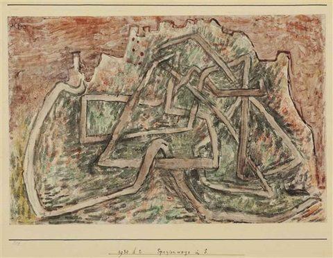 Spazierwege in S by Paul Klee