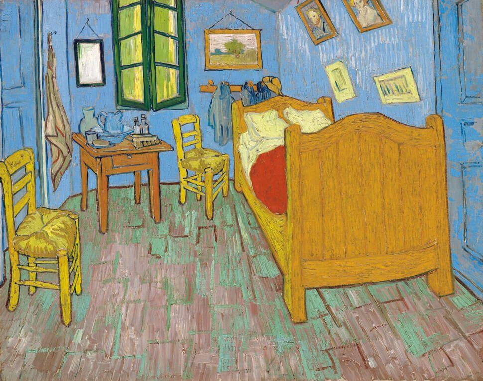 Van Gogh The Bedroom from Van Gogh's Nomadic Life Timeline