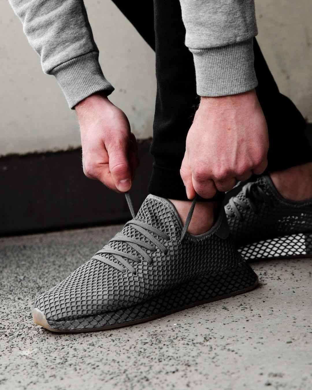 online store 0aa3f 022f8 Release Date  April 27, 2018 Adidas Deerupt Runner Dark Grey  Gum Credit   Overkill