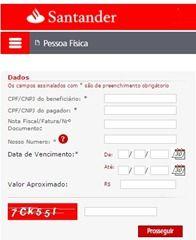 Reemissao De Boleto Vencido Santander Santander Fatura Do