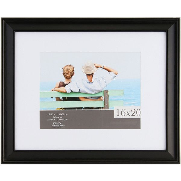 """Gallery Solutions 16x20"""" Black Slant Frame, Matted To 11x14 (71 CAD) ❤ liked on Polyvore featuring home, home decor, frames, black picture frames, black matted frames, black frames, black matted picture frames and matted frames"""