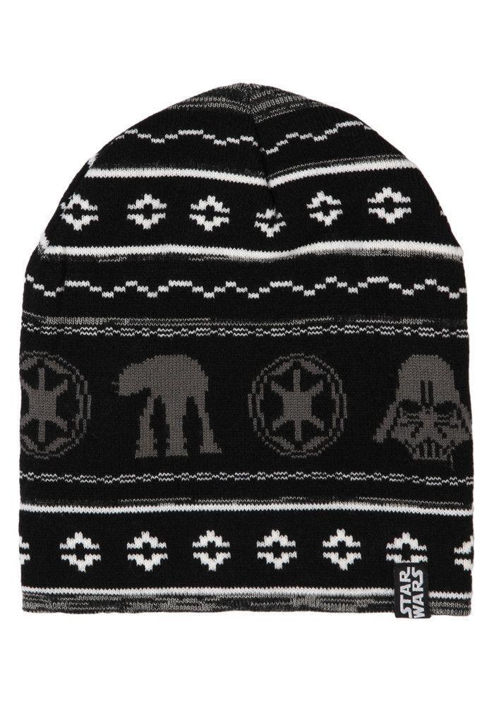 90085da30 STAR WARS Galactic Empire Holiday Exclusive Black Knit Beanie | Star ...