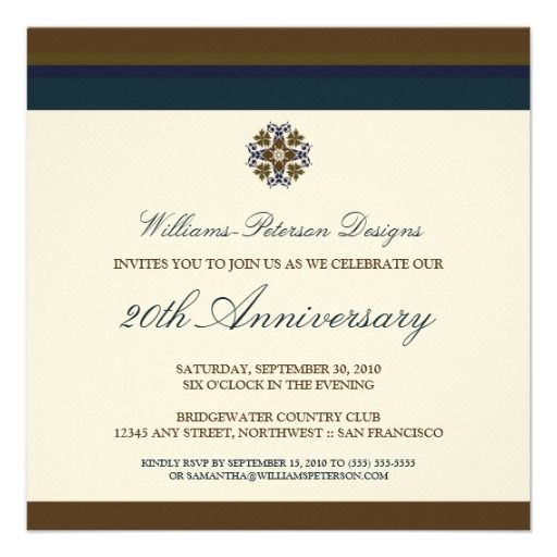 Colorful Bands Corporate Event Invitation Brown Zazzle Com