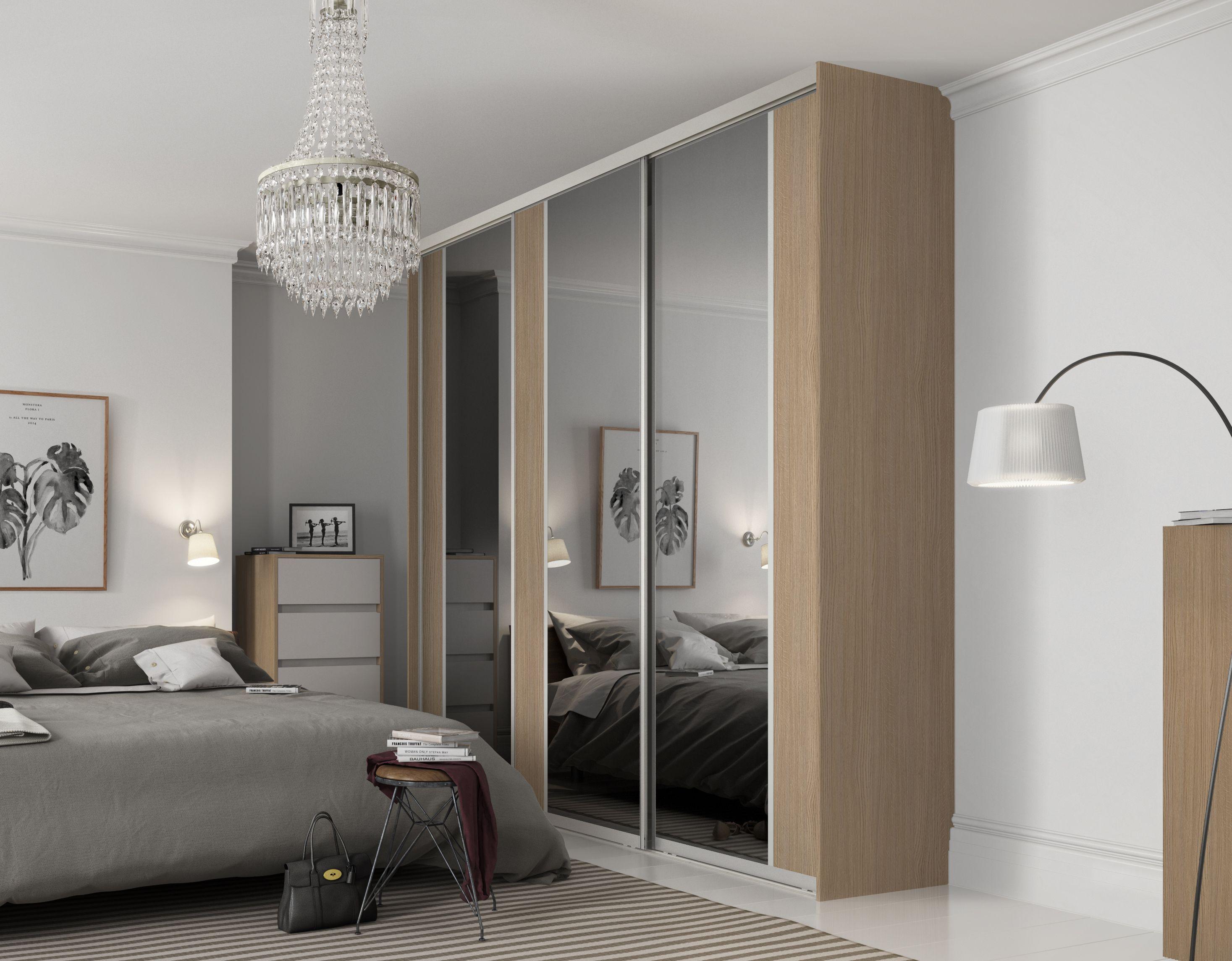 Premium Midi vertical split panel sliding wardrobe doors