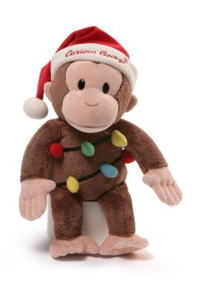 Gund  Curious George Holiday Plush 12