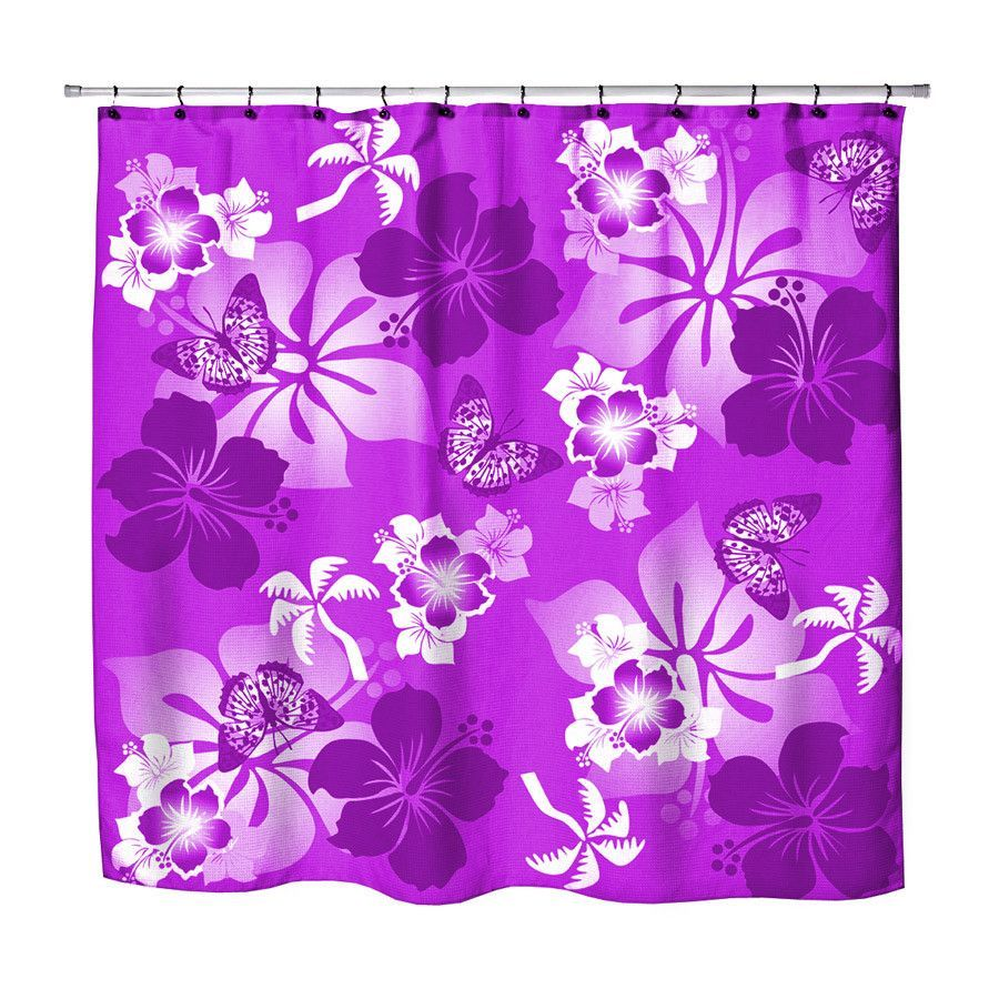 Surfer bedding purple hibiscus and butterflies hawaiian shower surfer bedding purple hibiscus and butterflies hawaiian shower curtain izmirmasajfo Images