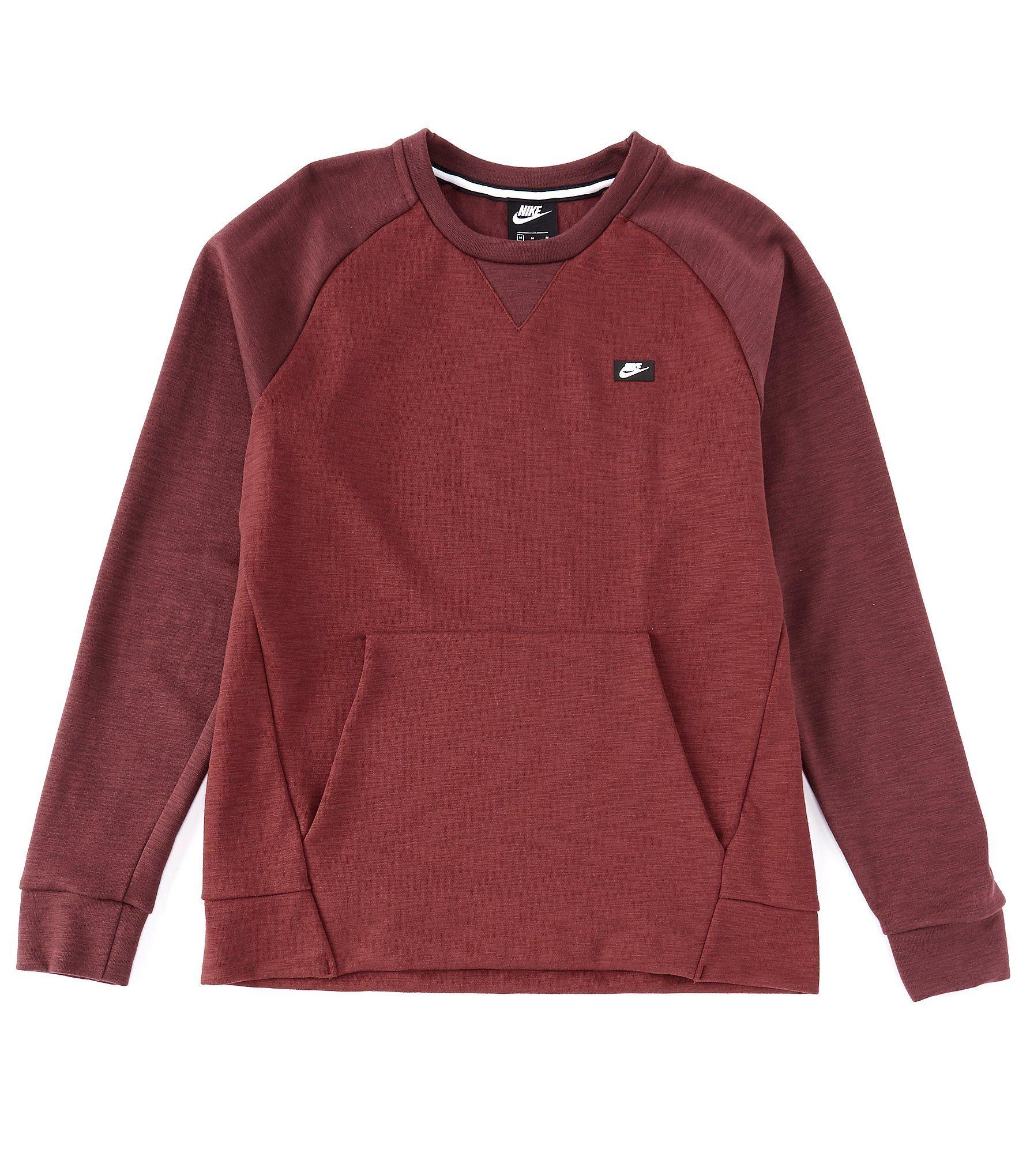 nike fleece long-sleeve optic crew sweatshirt