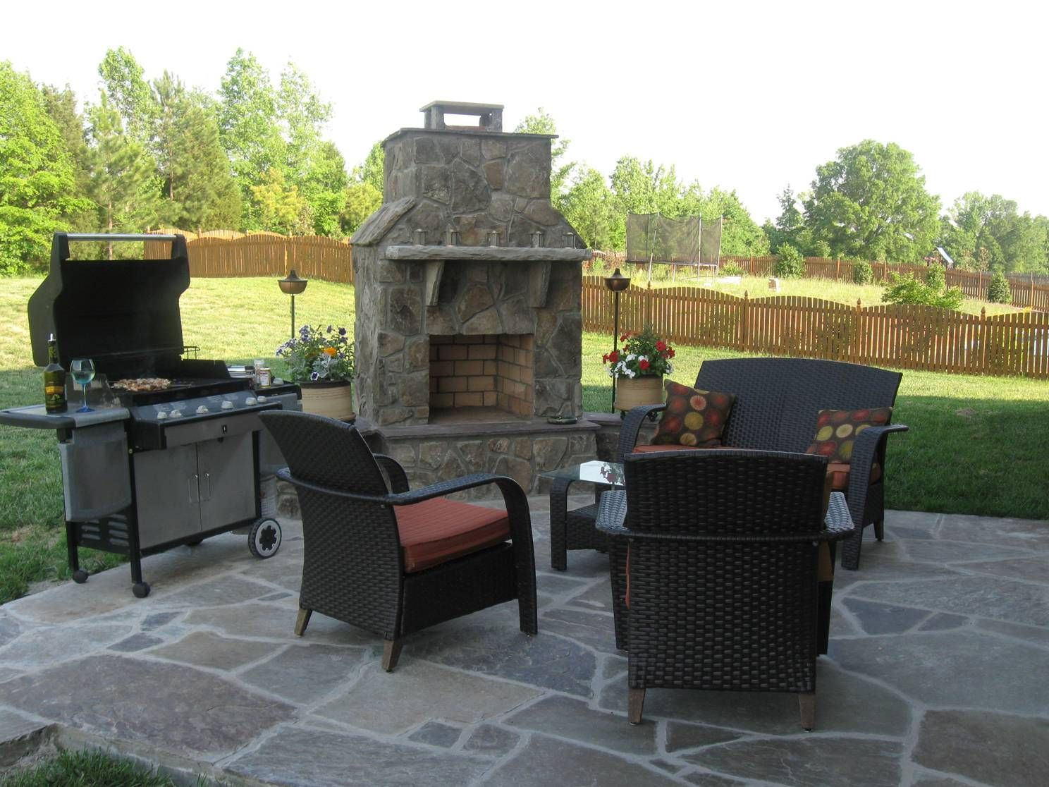 diy outdoor fireplaces wood burning outdoor fireplace with