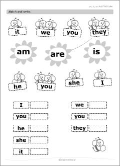 Resultado de imagen de verb to be exercises for kids ...