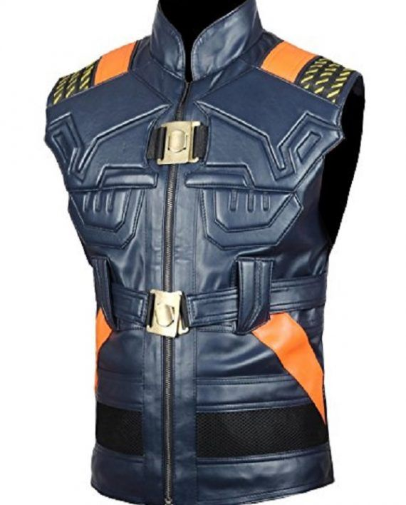 8185460d0c759e Michael B. Jordan Black Panther Leather Vest (2)