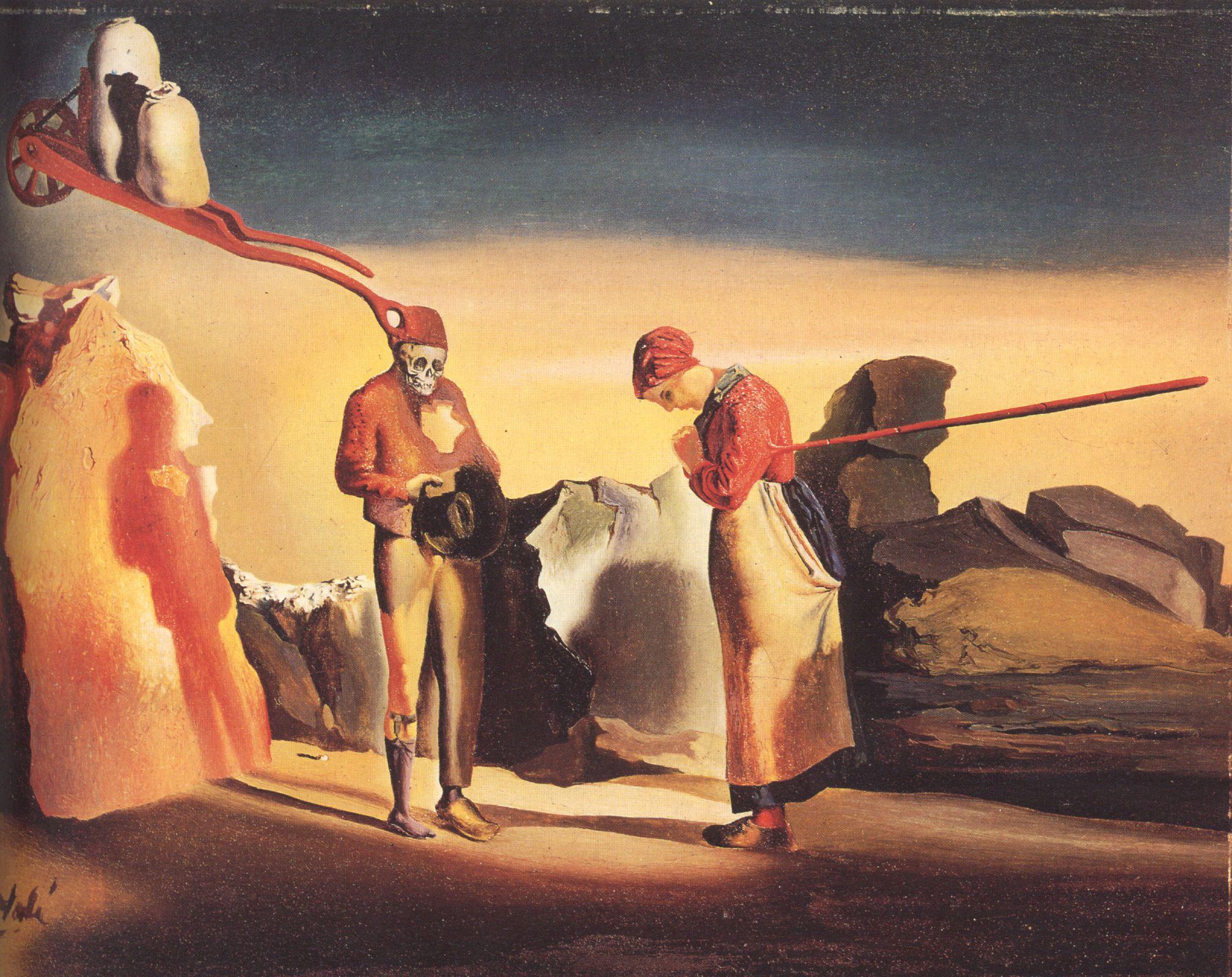 L'Atavisme du Crépuscule (1934) Salvador Dalí.