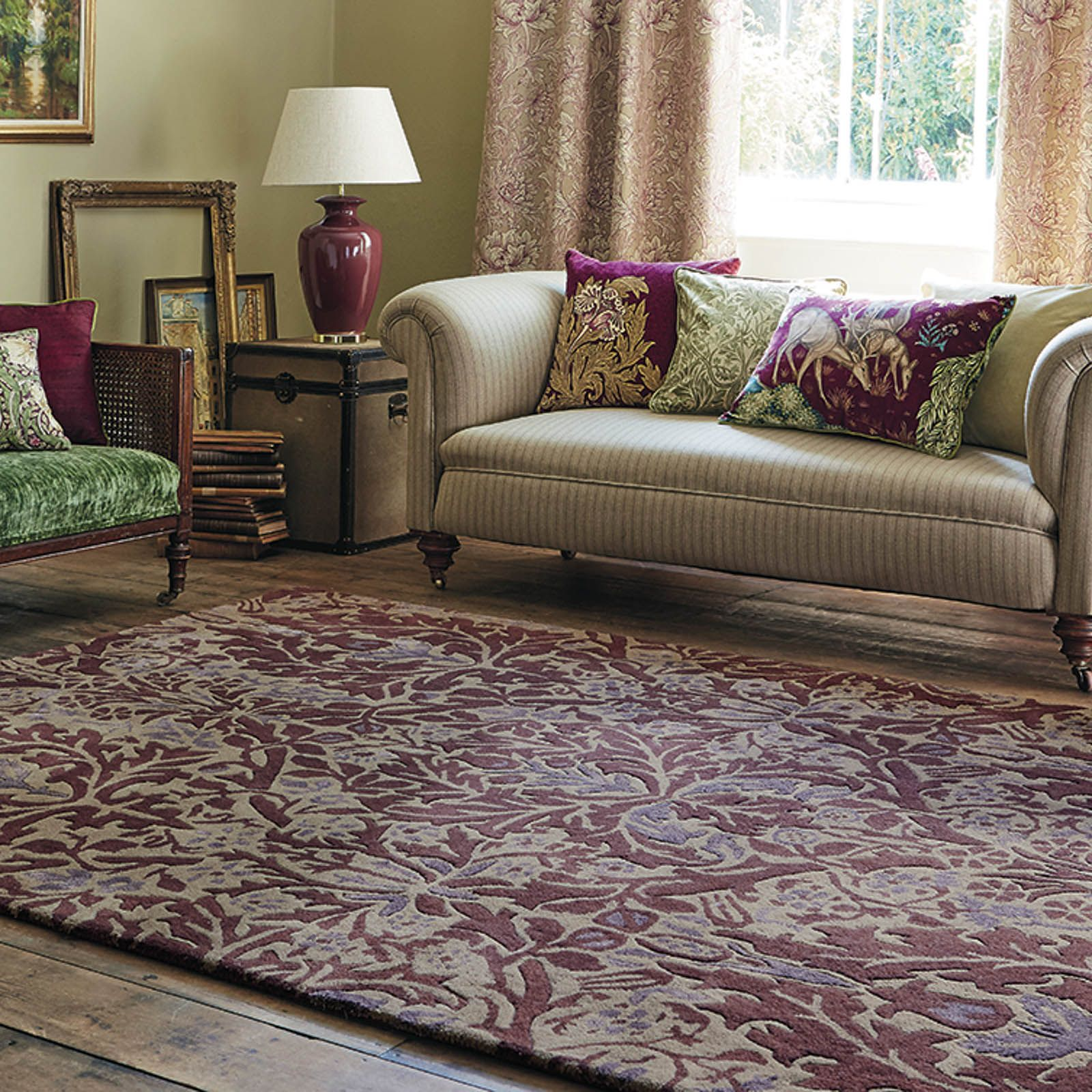 Autumn Flowers Rugs 27500 In Plum By William Morris140x200cm