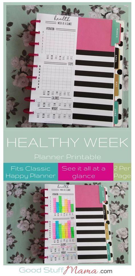 Healthy Planner Printable - Free Download Planners, Happy planner