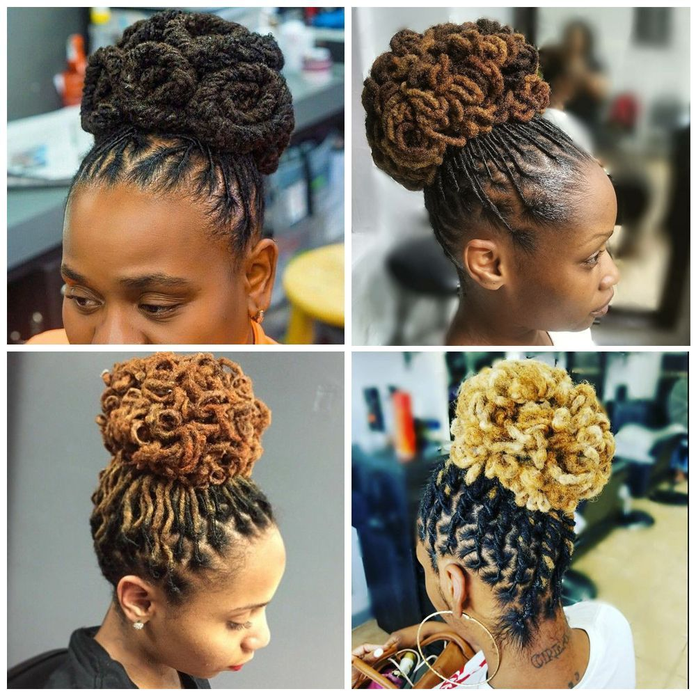 Updo Hairstyles For Black Women The Improvised Designs Curly Craze In 2020 Hair Styles Dreadlock Hairstyles Black Dreadlock Hairstyles
