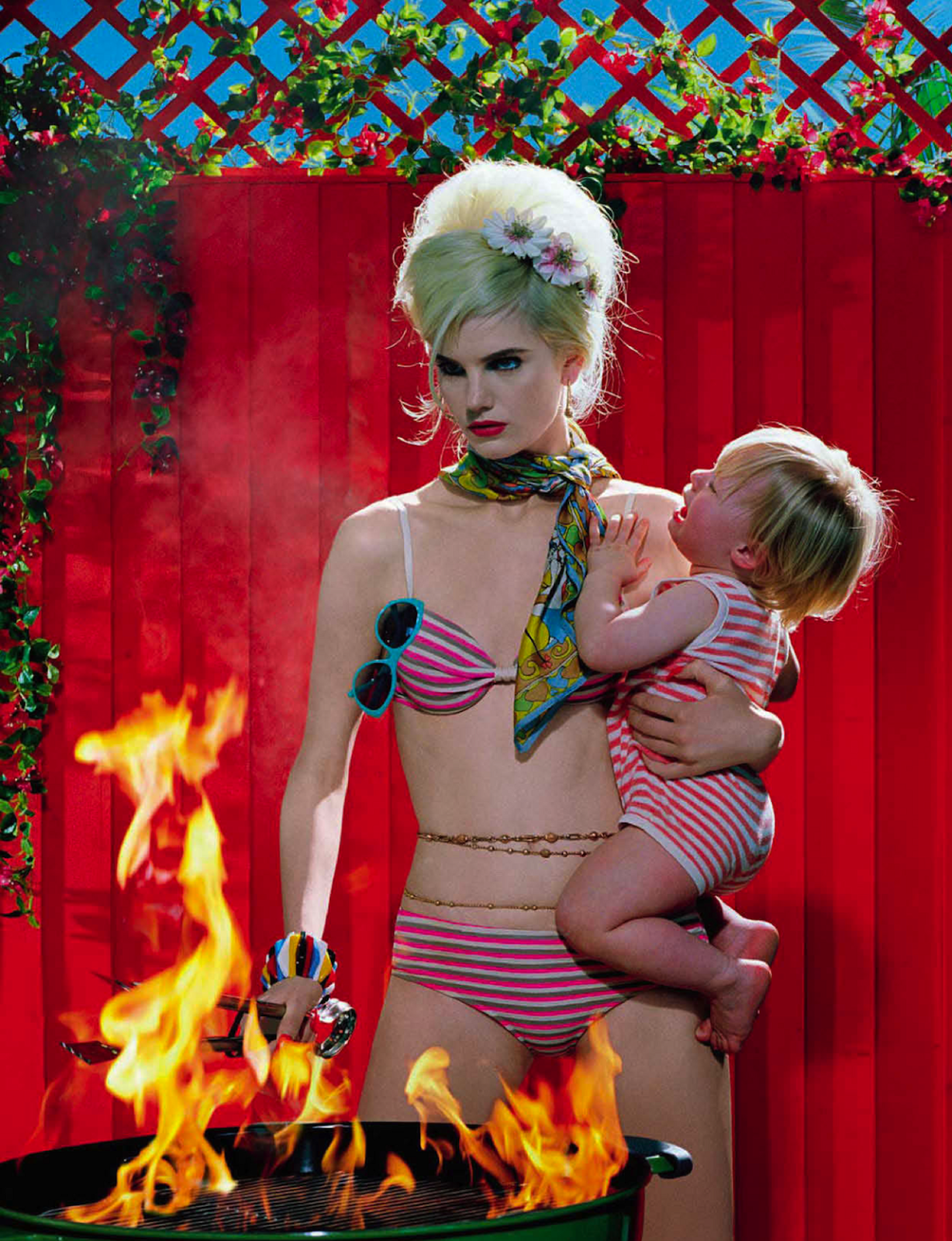 Photo of chic bbq: anmari botha by miles aldridge for vogue italia may 2013