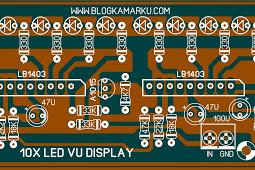 Rangkaian Led 10 Bar Untuk Mixer Atau Untuk Aksesoris Audio Led Mixer Display