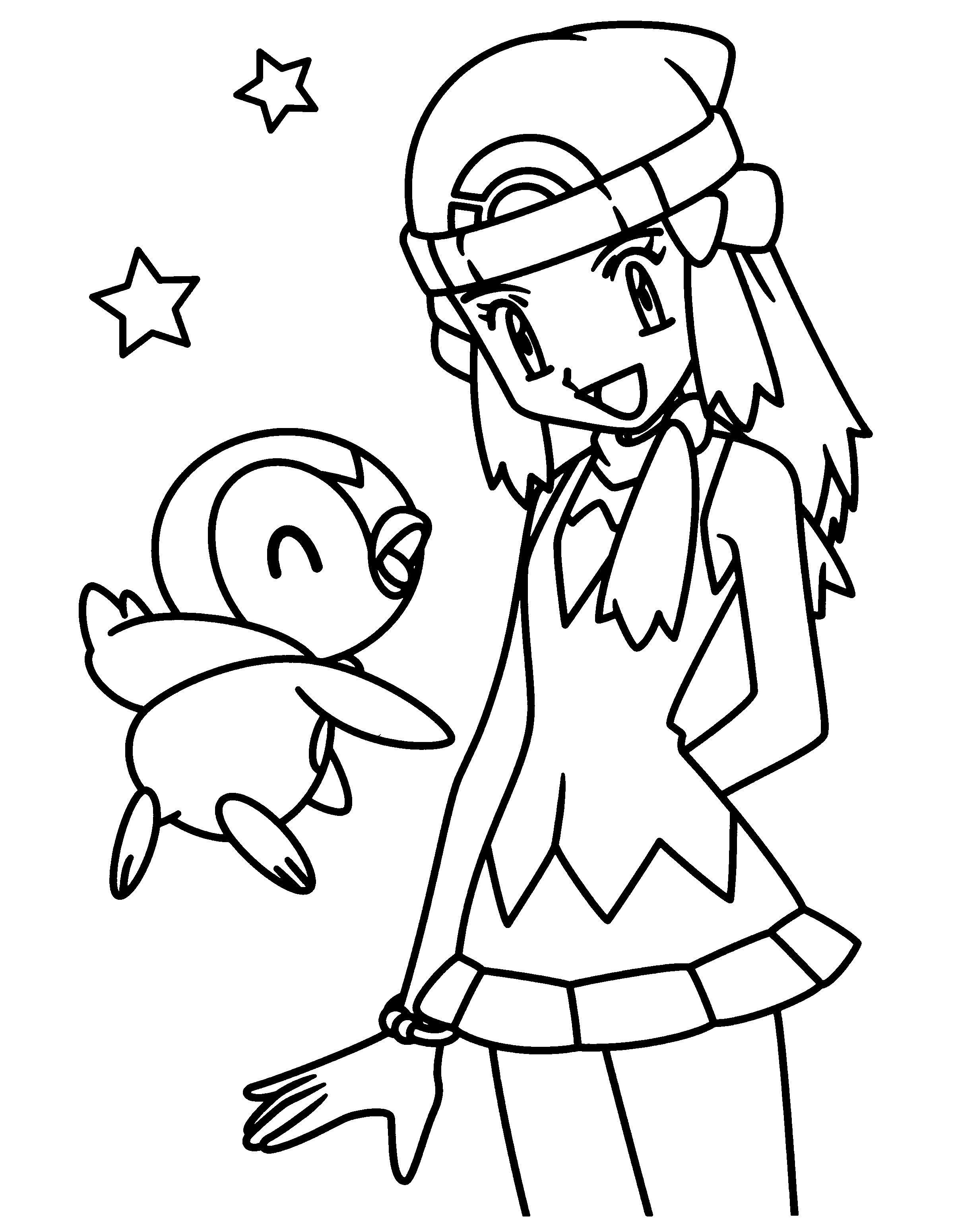 Pokemon Girl Coloring Pages Cartoon Coloring Pages Cute