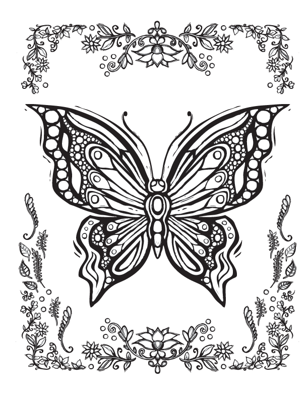 amazing coloring pages Sacred Nature Butterfly Papillon Mariposas Vlinders Wings Graceful  amazing coloring pages