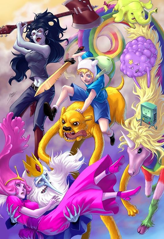 Realistic adventure time art ranges from supercute to soul crushing hora da aventura verso anime thecheapjerseys Choice Image