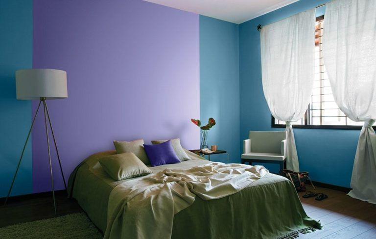 4 Combining Two Colors On The Bedroom Wall Bedroom Color Combination Wall Color Combination Interior Decoration Bedroom