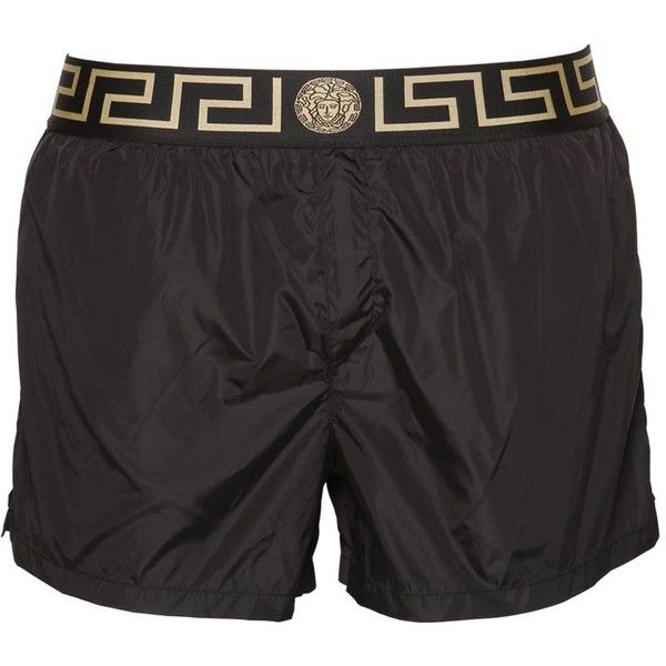 9149260e80 Versace Underwear Men Logo Nylon Swim Shorts ($275) ❤ liked on ...