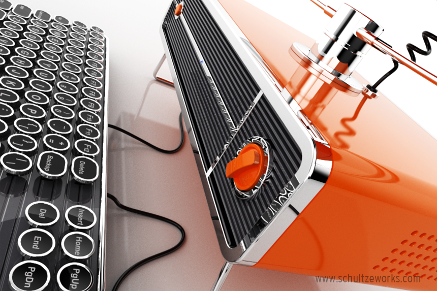 Retro Inspired Personal Computer – A 1950s Styled Design Concept