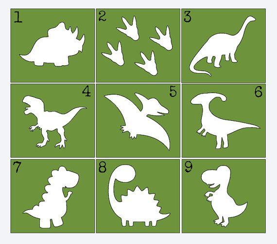 Dinosaur Stencils for Painting Onesies, Onesie Decorating Kit